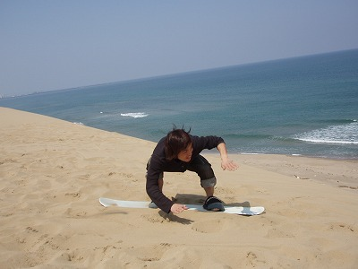 鳥取砂丘 サンドボード 画像