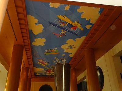 アンバサダーホテル ロビー天井