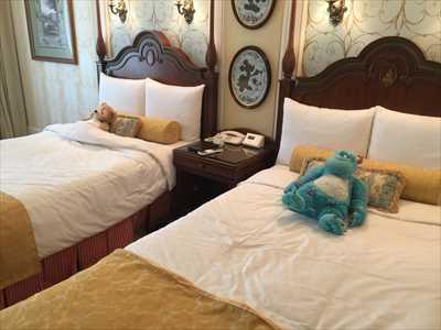 ディズニーランドホテル ベッド